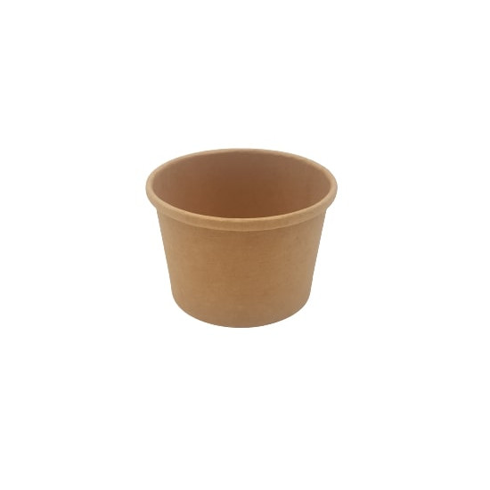 Pot à soupe en carton kraft brun 240 ml