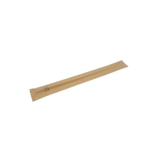 Baguettes en bois de bambou avec étui kraft 21 cm