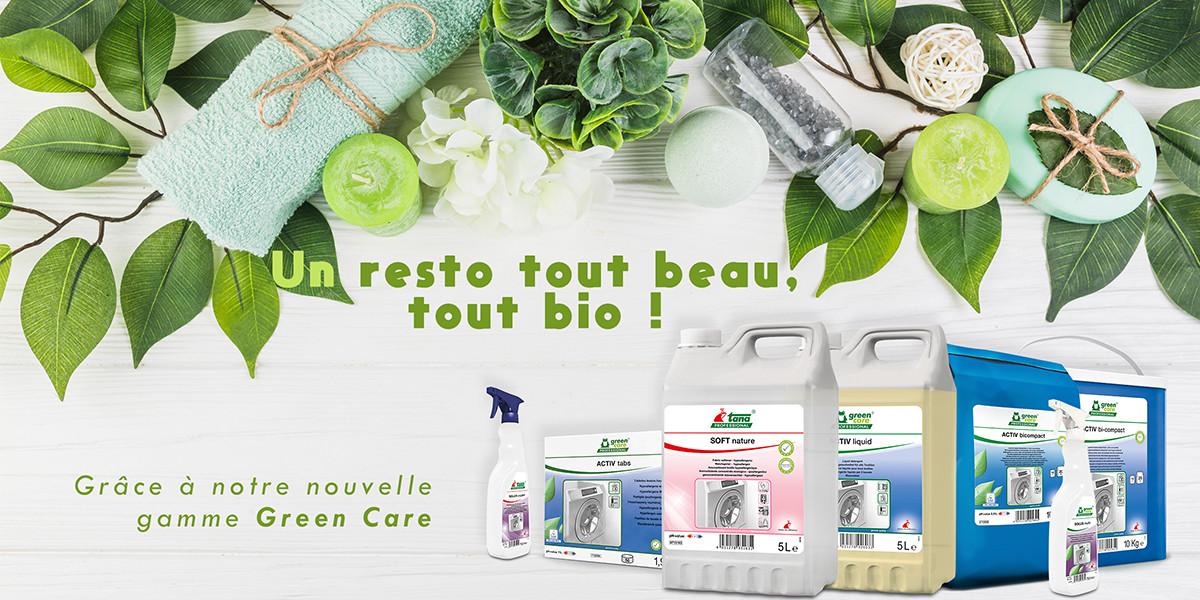Produits d'hygiène écologiques - Gamme Green Care - PKG FOOD